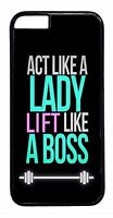 For iPhone 6 6s Plus 5 5s 5c 4s Cute Funny Gym Fitness Boss Quote Case Cover