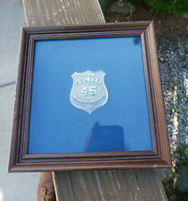 Rare WWII Remington Arms Special Police Badge Framed