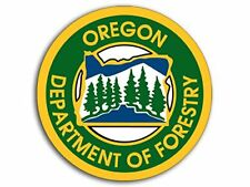 4x4 inch Round Oregon Department of Forestry Sticker (Forest Tree Hike)