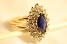 Beautiful Sapphire and Diamond Ring - Size 7   EXCITING GIFT & NICE INVESTMENT