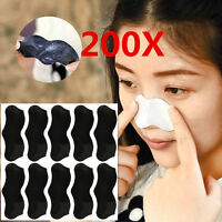 200X Nose Pore Cleansing Strips Blackhead Remover Peel Off mask/Nose Sticker
