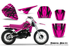 YAMAHA PW80 CREATORX GRAPHICS KIT DECALS STICKERS TRIBAL BOLTS PINK