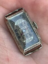 Antique 14k White Gold Filled LeCoultre Ladies Watch