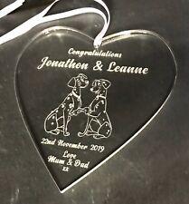 Personalised Wedding/Anniversary Gift Heart Disney 101 Dalmation Theme Keepsake