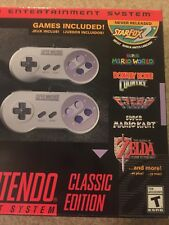SNES CLASSIC SUPER NINTENDO ENTERTAINMENT SYSTEM CONSOLE NEW IN BOX!