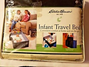 Eddie Bauer Infant Travel Bed Sleep Play Changing Folds Easily Extra Pockets