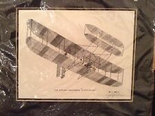 "Jerry Miller Print ""The Wright Brothers Kitty Hawk"" 12"" X 10"" Matted"