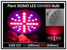 Plant Grow 36 SMD LED Red & UV Blue Light Bulb 110V E27 USA Engineer Certified