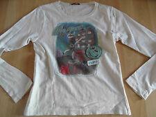 CHIPIE schönes Shirt mit Druck + Stickereien creme Gr. 12 J TOP KJ