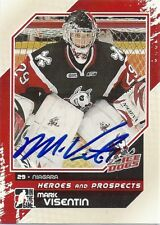 Mark VISENTIN Signed 2011 Heroes and Prospects Card