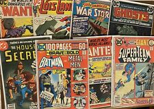 Lot Of 8 DC Bronze Comics- Brave And Bold, Super-Team, Wanted, House Secrets etc