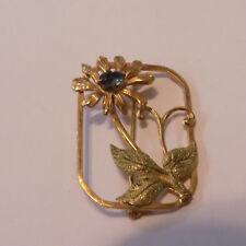 Signed Samsan  12K Textured Gold Filled Flower Brooch (72)