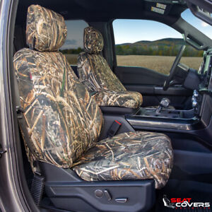 CUSTOM FIT CAMO SEAT COVERS for the 2003-2006 Chevy Silverado Buckets w/armrests