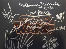 Oz, Ford, Fisher, Baker, Mayhew, Hamill Authentic Signed Star Wars Photo 1