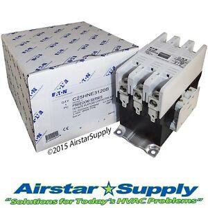 120 Amp Contactor C25HNE3120B Eaton / Cutler Hammer • 3 Pole • 208 240 V Coil
