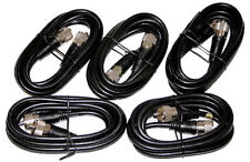 5X 6Ft. RG-8X Mini 8 Coax PL-259 Male to Male Ham Radio Antenna Cable 5 Pc. Lot