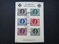 Germany Nazi 1943 Stamps FDC Adolf Hitler Hitler's 54th birthday Swastika WWII T