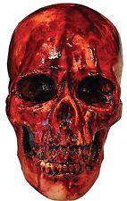 SKULL BLOODY RESIN SKELETON GOREY HALLOWEEN PROP BLOOD SPLATTER REALISTIC DETAIL
