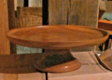 hand turned wooden cake stand