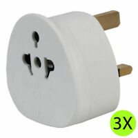 3X UK Visitor Adaptor USA Europe China Australia to 3 Pin UK Travel Adapter Plug