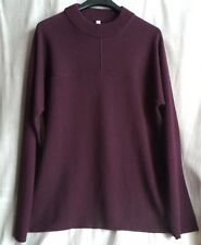 SILENT by DAMIR DOMA Wine Wool-Blend KESSI Sweater SIZE L