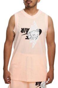 Nike Air Jordan Jumpman  Mesh Jersey Pink Peach BQ8479 814 Mens Size L New