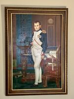 Stunning Vintage Original Oil Painting The Emperor Napoleon Framed And Signed