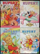 FOUR VARIOUS RUPERT BEAR ANNUAL BOOKS 1980 1983 1990 2004  DAILY EXPRESS