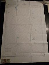 Antique Vintage US Navy Nautical Chart  Aeronautical Map  Hao- Fangataufa Island