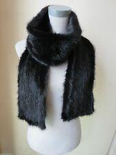 Warm XL# Elegant  Men's  Real  Black Mink Fur Knitted Scarf