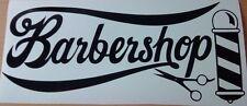 barbers shop window scissors barber pole salon vinyl graphic sticker  wall art