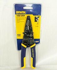 Irwin Vise Grip Wire Stripper Crimper Cutter 8 Inch Electrical New