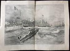 LES SOUVERAINS RUSSES EN FRANCE REVUE NAVALE 1901