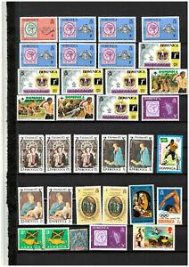 Karibik   Lot Sammlung aus verschiedenen Ländern  mit 216 Marken