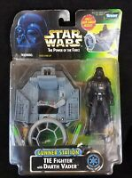 Vintage Kenner Star Wars The Power Of The Force Tie Fighter Darth Vader 1998