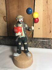 Vintage Fl 00004000 ambro Emmett Kelly Jr. Happy Birthday Clown Hobo Figurine