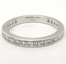 TIFFANY & Co. Platinum 2mm Full Circle Channel-set Diamond Band Ring 5