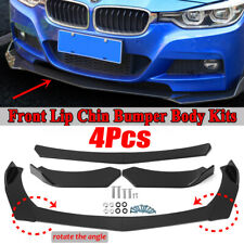 4PCS Gloss Black Front Lip Chin Bumper Spoiler For BMW E90 E91 E92 X5 E70 X6 E71