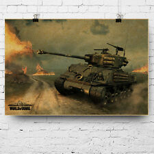ALLIED TANK WW2 USA FURY M4A3E8 D-DAY THE NORMANDY  Poster printing 40x60cm