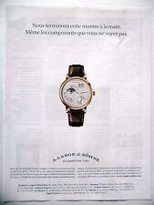 PUBLICITE-ADVERTISING :  A.LANGE & SOHNE Phases de Lune  2014 Montres
