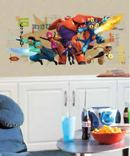 BIG HERO 6 wall sticker MURAL 1 decal Baymax Fred group Disney movie wall decor
