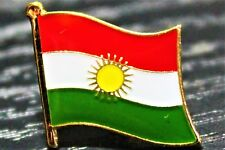 KURDISTAN Kurdish Country Metal Flag Lapel Pin Badge *NEW*
