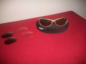 TIFOSI STRADA T-1630 GOLD Cycling/Sport Sunglasses W/Changeable Lens/Zipper Case