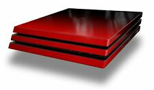 Skin for PS4 Pro Smooth Fades Red Black Playstation 4 Console