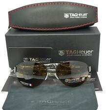 New Men's Tag Heuer Aviator Chocolat/Brun Fonce Noir France Sunglasses $499.00