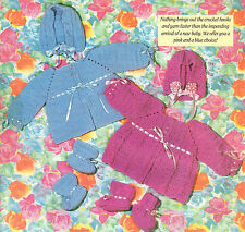 Precious Sweater Set Baby Ensemble/Crochet Pattern Instructions Only
