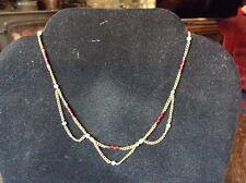 Piccolo intorno al periodo Edoardiano in Oro e Smalto semi Collana Di Perle Di Antico Catena