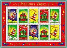 FRANCE 1998 NEW YEAR M/S MNH CV$14.00 SANTA