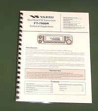 "Yaesu FT-7800R Service Manual with full set of 11""X17"" Foldouts (full color)"
