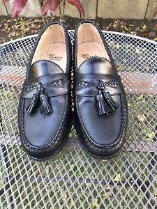 Men's Allen Edmonds Maxfield Loafers Dress Shoes Sz 10.5D Black Leather Kiltie